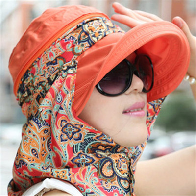 Sun hat with big edge for sun protection and UV protection