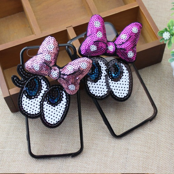 Korean cartoon R11plus sequins acrylic iP7p/r9s/r11s anti-fall cartoon Minnie x9/x7 shell
