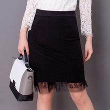 韩版秋冬季新款毛呢中长款包臀半身裙修身一步中裙女士高腰裙子