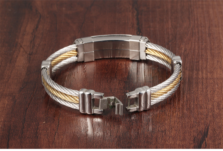 Titanium&Stainless Steel Fashion Geometric bracelet(782 gold) NHOP2726-782-gold