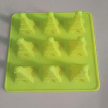 硅胶蛋糕模12连创意埃菲铁塔布丁模 冰格模硅胶 烘焙工具现货批发