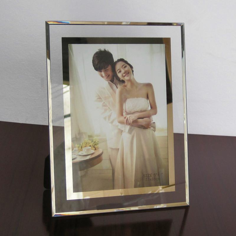 授權證書水晶玻璃相框影樓婚紗照兒童擺臺6寸587寸A4廠家批發定制