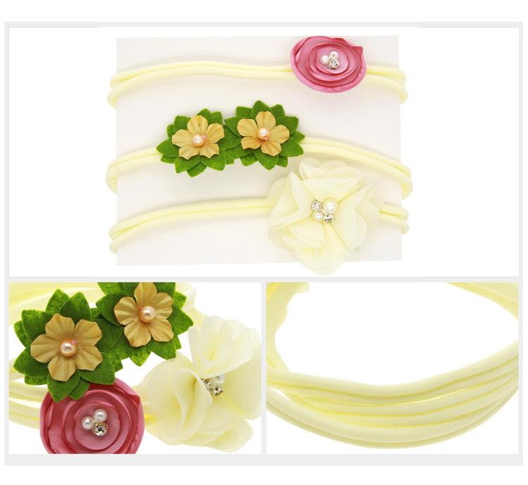 Cloth Fashion Flowers Hair accessories  Light coffee band  Fashion Jewelry NHWO0648Lightcoffeeband