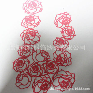 Fabric laser engraving and burning flower processing Roseonly rose flower burning flower laser engraving and burning flower processing