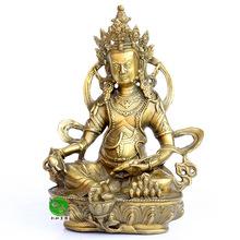 纯铜尼泊尔黄财神佛像摆件 招财镇宅藏传佛教密宗财神 铜像工艺品