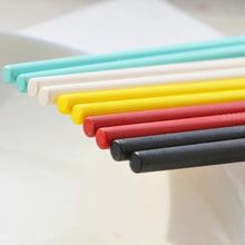 耐高溫糖果色塑料筷子 防滑彩色合金筷子 壽司筷子 酒店禮品