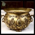 五路财神聚宝盆 金玉满堂摆件 纯铜聚宝盆工艺品装饰
