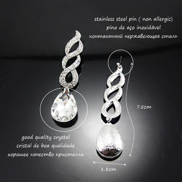 Alloy Fashion Geometric earring  (white)  Fashion Jewelry NHAS0611-white
