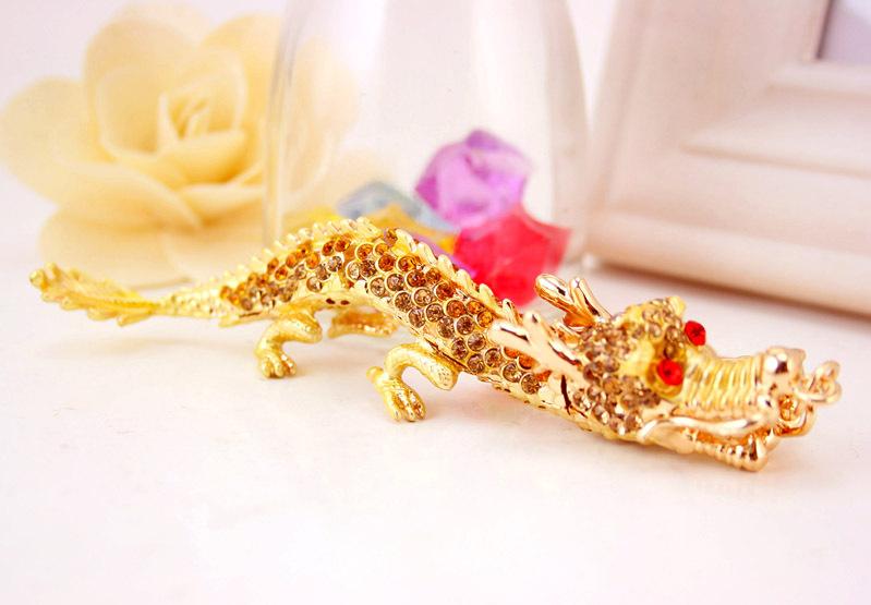 creative diamond crafts twelve zodiac dragon keychain  NHAK266935