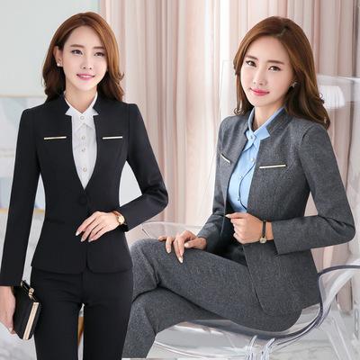 女装2016秋季新款韩版小西装 女ol职业装女套装工作服一件代发