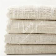 明兴麻业 箱包手袋装饰用本色竹节亚麻棉布料