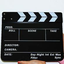 亚克力电影拍板 场记板 打板 拍板 彩色场记板 英文 包邮 YX-14HH