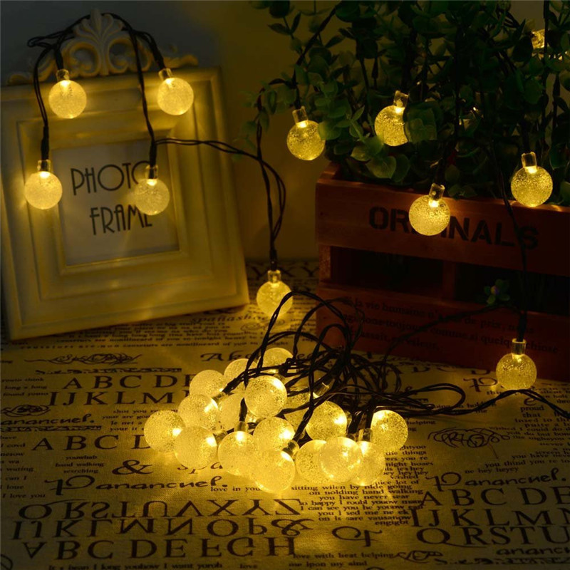 Solar outdoor string light 6m 30leds bubble ball outdoor waterproof undefined aloadofball Gallery