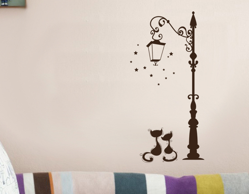 Modern And Fashionable Cute Cat Wall Stickers