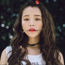 日本原宿韓國代購正品皮帶蝴蝶結珍珠朋克頸帶項圈短鎖骨項鏈潮女