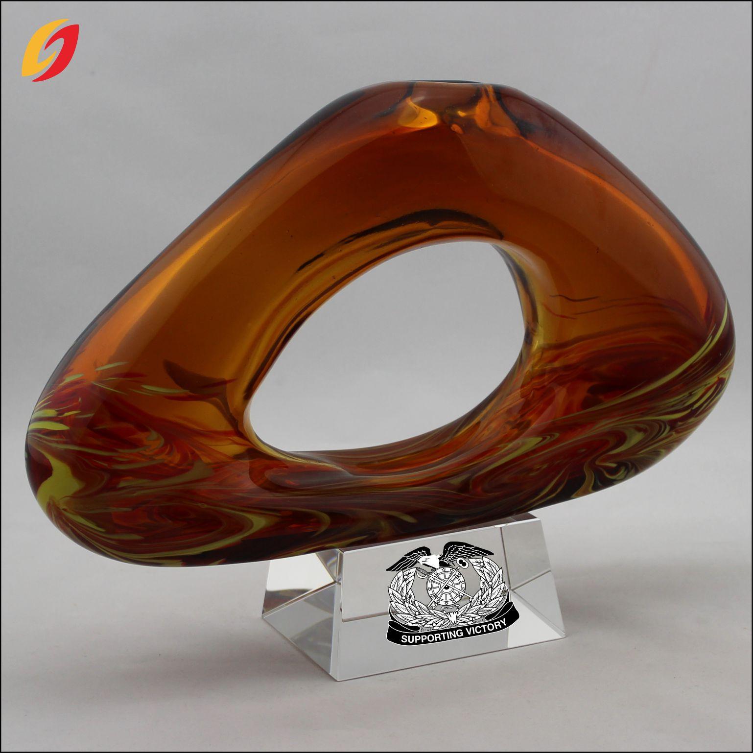 艺术品摆件 玻璃奖杯 琉璃奖杯 公司奖杯 水晶装饰品 家居摆件