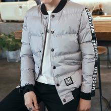 2017冬季新款男士棉衣外套 韓版潮加厚棒球領上衣外套 男青年棉服