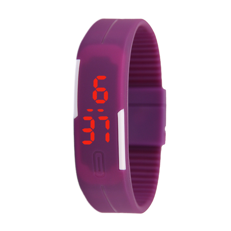 Thin band LED bracelet watch fashion touch electronic student gift watch black one size 20