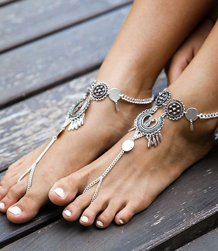 Europe and the United States alloy plating Anklet NHGY0565