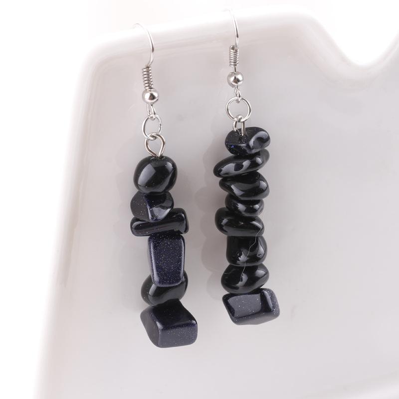 Earrings handmade crystal stone earrings simple natural stone DIY earrings multicolor stone earrings wholesale nihaojewelry NHDI225779