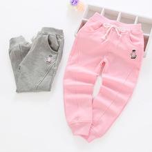 2018年春季新款 韓版女童休閑褲外貿原單 童裝兒童中小童運動褲子