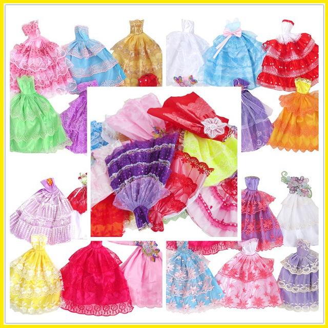 半包裙适合可穿女孩玩具雅萌乐换装娃娃衣服婚纱公主拖尾裙晚礼服