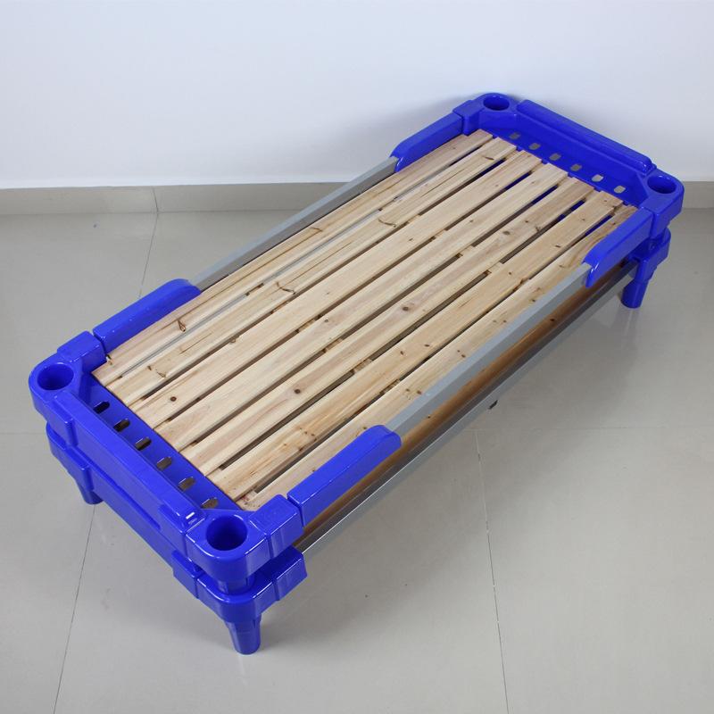 幼儿园专用拆装单人床儿童塑料木板床 宝宝午休单层床 拆叠午睡床