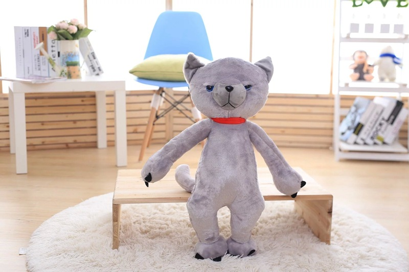 日本米田猫咪不爽猫玩偶玩具 生气猫长腿猫咪毛绒公仔送女生
