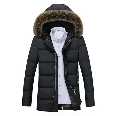 冬季棉衣男中长款外套羽绒棉服加厚韩版修身连帽大码男装棉袄批发