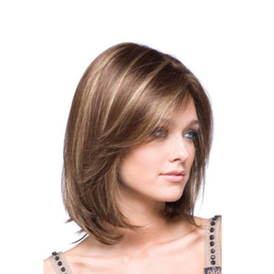 Bob Hair Wigs Perruques Bob Hair Pelucas De Cabello Bob One piece of high-grade Parrucche Pelucas head cover and gradual hairstyle