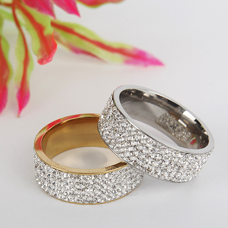 TitaniumStainless Steel Fashion Geometric Ring  8MM steel color 6 NHTP00338MMsteelcolor6