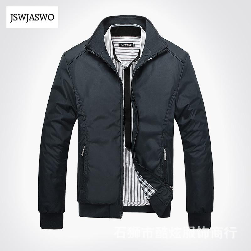 杰森狼新款男式夹克男单衣青年立领夹克春秋休闲商务男夹克男外套