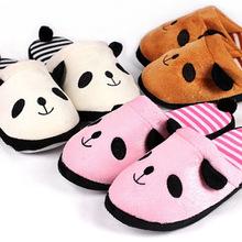 2020新款创意卡通熊猫冬季女室内居家用软底棉拖鞋防滑静音