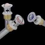面盆洗手盆下水器不锈钢下水电镀翻板弹跳水槽下水管配件厂家直销