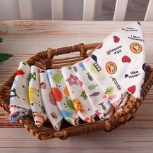 朴朴米双层全棉口水巾 婴幼儿三角巾 宝宝围嘴 卡通印花围兜
