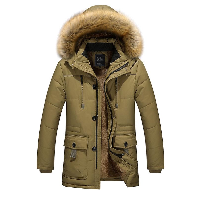 冬季男式棉衣棉袄男士中长款外套欧美男装外套外贸宽松棉服大码潮