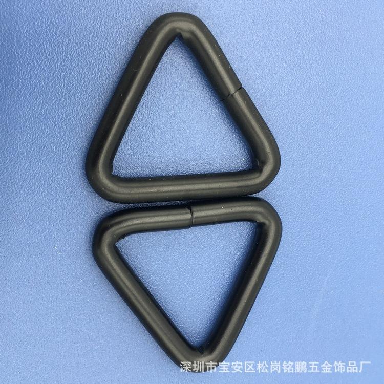 厂家销售焊口三角扣 挂镀泳黑钩扣 箱包五金扣 饰品配件