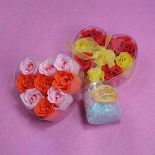 厂家生产纸肥皂花9朵粉 红渐变?#30007;?#30418;装香皂食用色品?#26102;?#35777;