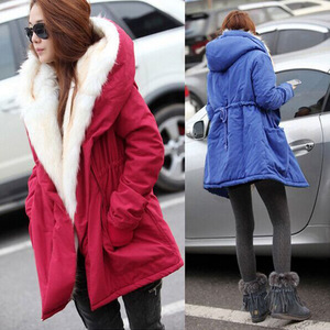 EBay aliexpress new winter coat fur collar women slim down big thick cotton padded jacket