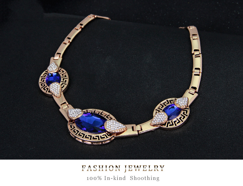Occident alloy Inlaid crystal necklace NHDR0639