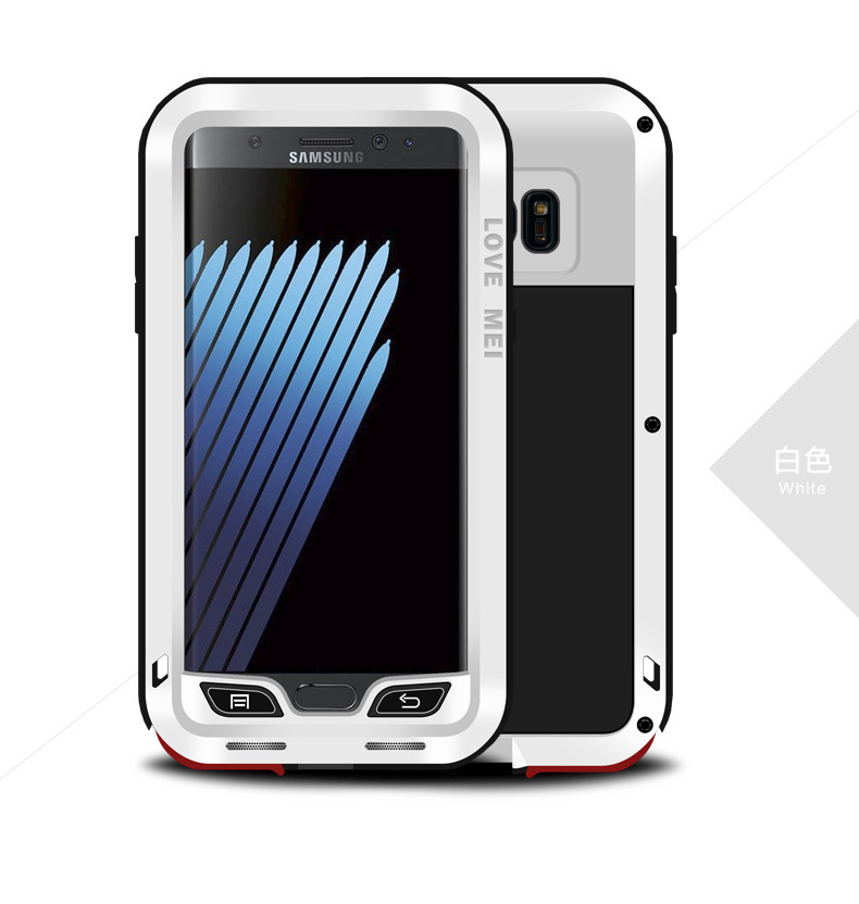 LOVE MEI Powerful Water Resistant Shockproof Dust/Dirt/Snow Proof Aluminum Metal Outdoor Heavy Duty Case Cover for Samsung Galaxy Note 7