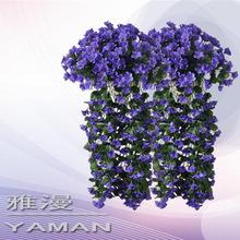 仿真壁挂紫罗兰墙面阳台吊兰管道装饰假花绢花绣球大樱花壁挂