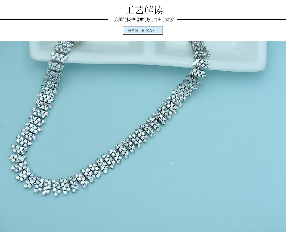 Alloy Fashion  Jewelry Set  (White necklace) NHTM0406-White-necklace
