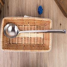 廠家批發不銹鋼銀貝 盛燙勺 加厚  長防燙手柄烹飪廚具  HL-0536
