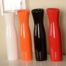 批發陶瓷修身彩色陶瓷花瓶百合郁金香花桶創意家居擺件結婚禮物