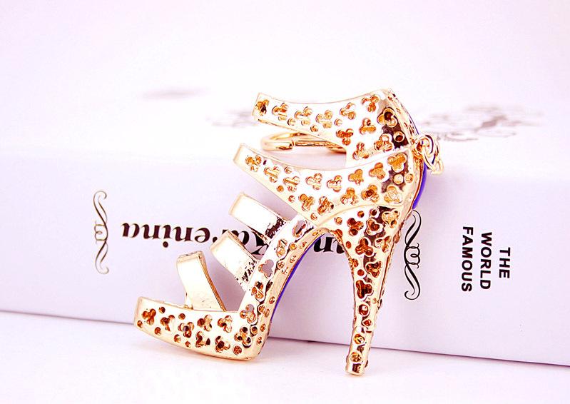 Creative cute diamond-studded ladies oversized high heels keychain NHAK266951