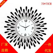久久達 大號掛鐘時尚客廳時鐘表 現代創意靜音石英壁鐘歐式藝術表