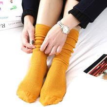 堆堆袜 女 日系秋冬棉薄款女袜 纯色复古森系短靴袜套长筒袜子