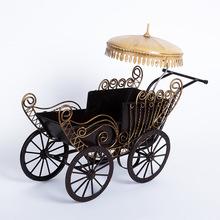 怀旧 复古美式风格 精致婴儿车 创意家居小摆件 精美铁艺工艺品
