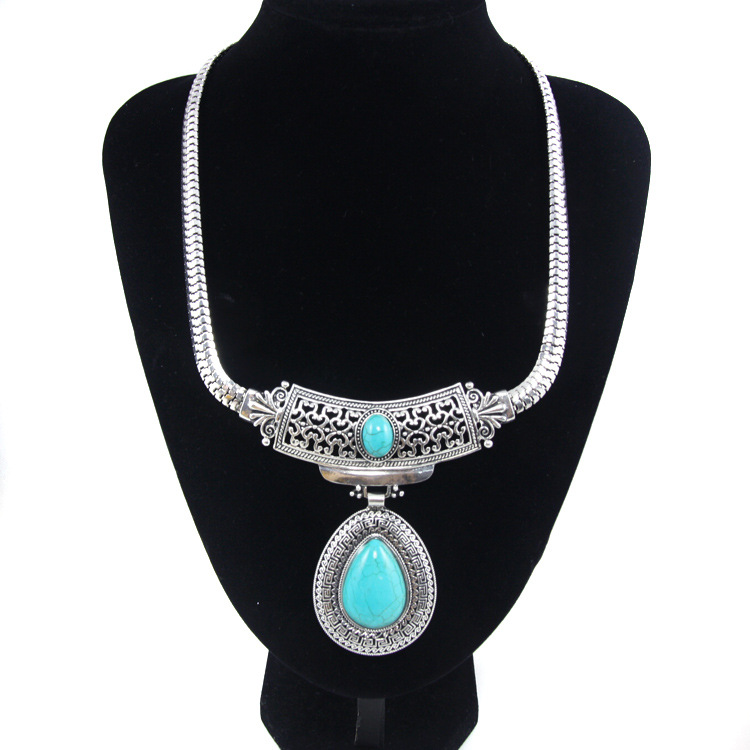 Womens teardrop electroplated alloy Necklaces NHAS120805